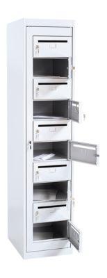 Postverteilerschrank, Höhe 1800 mm, lichtgrau RAL 7035