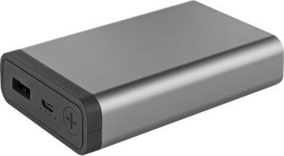 Powerbank Metmaxx® Mr. Charge CompactMetall, 10.000 mAh, titan-schwarz, inkl. Werbeanbringung