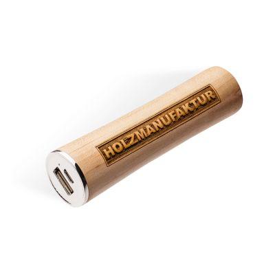 Powerbank Q-Pack Tubby Holz 2600 mAh Lithium-Polymer Akku, Ahorn