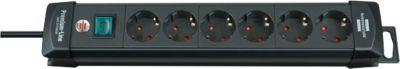 Premium-Line stekkerdoos 6-voudig, zwart