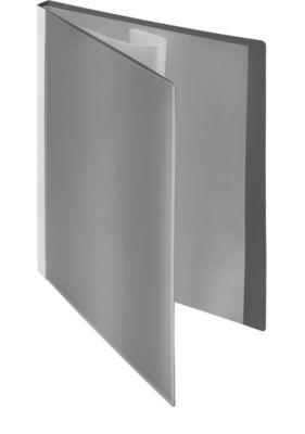 Presentatie-zichtmappen met fronthoezen, grijs, 20 stuks, A4