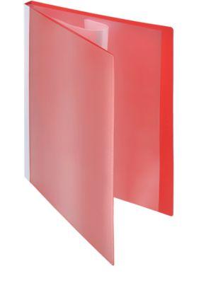 Presentatie-zichtmappen met fronthoezen, rood, 10 stuks, A4