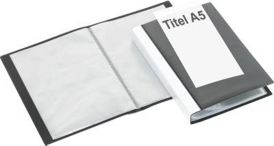 Presentatie-zichtmappen met fronthoezen, zwart, 20 stuks A5