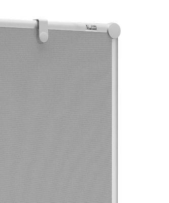 Presentatiebord PRO, inklapbaar, textiel/textiel grijs