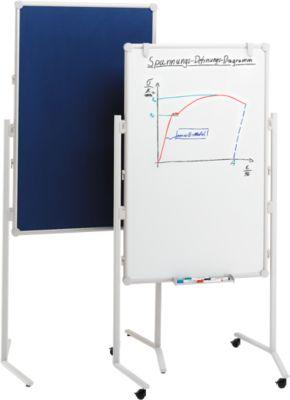 Presentatiebord PRO, textiel blauw/whiteboard