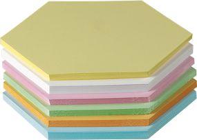 Presentatiekaarten, honingraatvormig, zijlengte 95 mm, 250 stuks