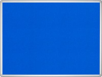 Prikbord met vilt Pro Line bordsysteem, 900 x 1200 mm, blauw