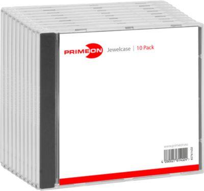 PRIMEON CD/DVD-Leerhüllen, 10 Jewelcase