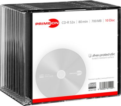 PRIMEON CD-R, 10 Slimcases