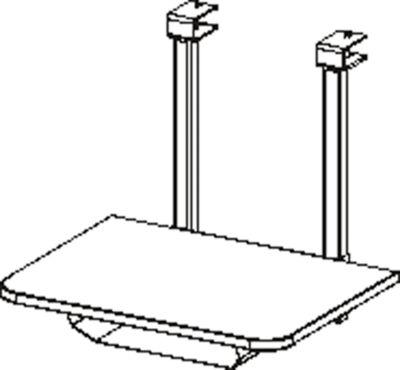 Printerplank voor het tafelsysteem MODENA FLEX, B 540 x D 400 mm, lichtgrijs