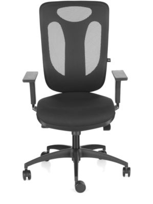PRO NET 100 bureaustoel, zonder armleuningen, nieuwe High-Tech netrugleuning, rugleuning 650 mm, zwart/zwart