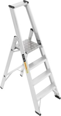 Professionele aluminium-platformladder, 4 treden