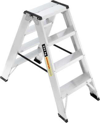 Profi-Doppelstufenleiter, Aluminium, 2x4 Stufen