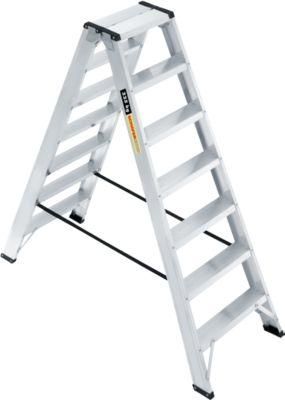 Profi-Doppelstufenleiter, Aluminium, 2x7 Stufen
