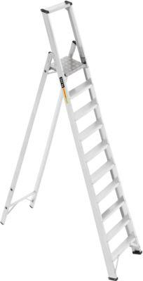 Profi-Plattformleiter, Aluminium, 10 Stufen