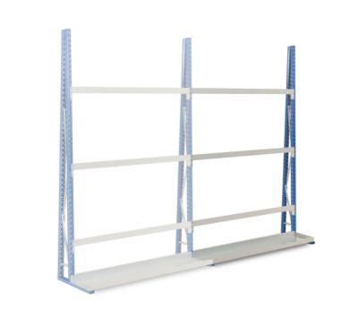 Profiel-magazijnrek, aanbouwsectie, enkelzijdig, 2500x1800x340 mm
