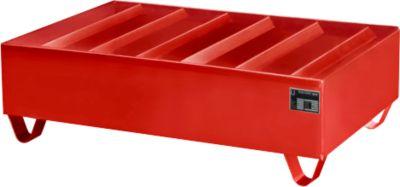 Profielopvangbak type PW vlg. StawaR, voor 2 vaten, rood, 59 kg
