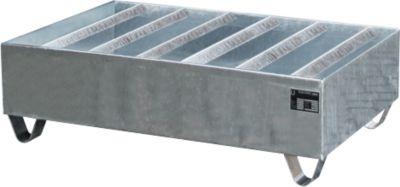 Profilwanne PW gem. StawaR, für 2 Fässer, 224 l, 64 kg, verzinkt