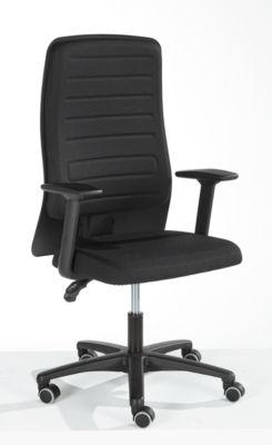 Prosedia Bürostuhl ECCON plus-3, Permanentkontakt, ohne Armlehnen, Rückenlehne gepolstert, mit Lordosenstütze, Flachsitz, schwarz