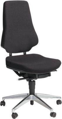 Prosedia Bürostuhl GALANOS IV, Synchronmechanik, ohne Armlehnen, Lordosenstütze, Wellness-Sitz, schwarz/anthrazit