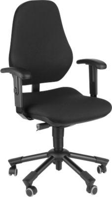 Prosedia Bürostuhl LEANOS IV, Synchronmechanik, ohne Armlehnen, Bandscheibensitz, schwarz/schwarz
