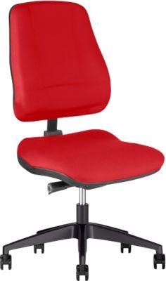 Prosedia Bürostuhl LEANOS V ERGO, Synchronmechanik, ohne Armlehnen, Bandscheibensitz, rot/schwarz