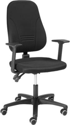 Prosedia Bürostuhl Younico plus 3, mit Armlehnen, Permanent Kontakt, Muldensitz, 3D-Rückenlehne, schwarz/schwarz