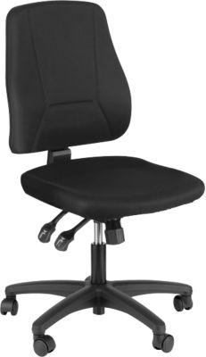 Prosedia Bürostuhl YOUNICO PLUS 8, Synchronmechanik, ohne Armlehnen, halbhohe Rückenlehne, schwarz