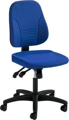 Prosedia Bürostuhl YOUNICO PLUS 8, Synchronmechanik , ohne Armlehnen, niedrige 3D-Rückenlehne, blau