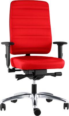 Prosedia Bürostuhl YOUROPE PRO 6, Synchronmechanik, ohne Armlehnen, Komfortpolstersitz, schwarz/rot
