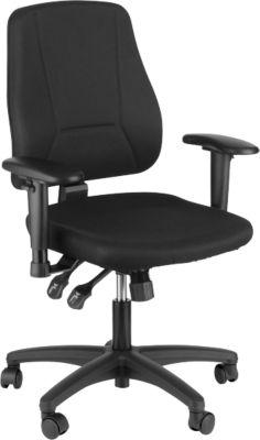 Prosedia bureaustoel YOUNICO Plus 8, mobiel, halfhoge rugleuning, zonder armleuningen, blauw