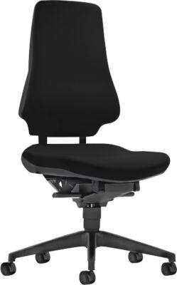 Prosedia GALANOS III bureaustoel, rugleuning 580 mm, zonder armleuningen, antraciet/zwart