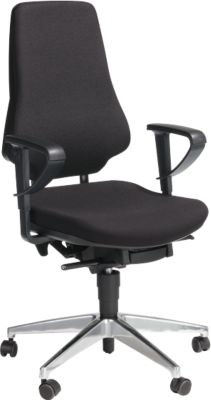 Prosedia GALANOS IV bureaustoel, zonder armleuningen, zwart/antraciet