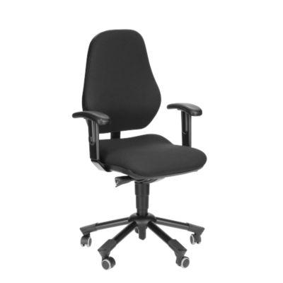PROSEDIA LEANOS III bureaustoel, speciale zitting met bekkensteun, afgeronde voorkant, zonder armleuningen, zwart/blauw