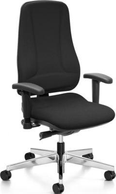 Prosedia LEANOS V ERGO bureaustoel, rugleuning 650 mm, zonder armleuningen, zwart/gepolijst alu