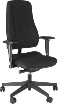 Prosedia LEANOS V ERGO bureaustoel, rugleuning 650 mm, zonder armleuningen, zwart/zwart