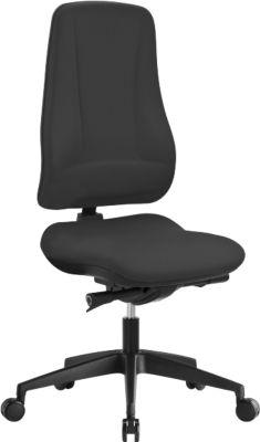 Prosedia LEANOS V KOMFORT bureaustoel, h 650 mm, zonder armleuningen, zwart/zwart