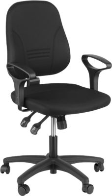 Prosedia YOUNICO Plus 8 bureaustoel, rugleuning 510 mm, zonder armleuning, blauw