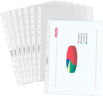 Prospekthüllen, A4, PP-Folie, genarbt, dokumentenecht,100 Stück
