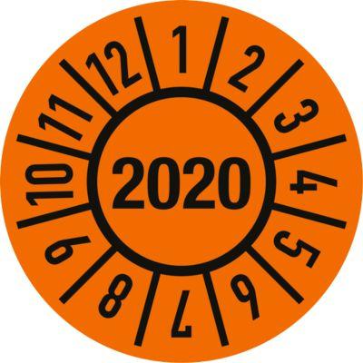 Prüfplakette (2020), ø 30 mm, 500 Stück