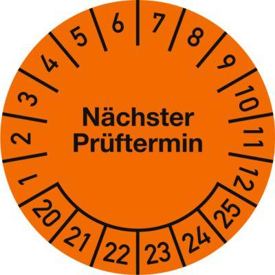 Prüfplakette, Nächster Prüftermin (2020-2025), ø 30 mm, 500 Stück