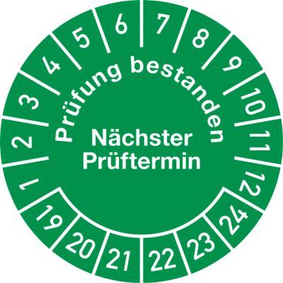 Prüfplakette, Prüfung bestanden, Nächster Prüftermin (2019-2024)