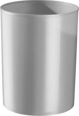 Prullenbak rondofix, 18 liter, lichtgrijs