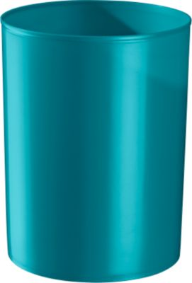 Prullenbak rondofix, 18 liter, waterblauw