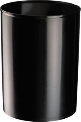 Prullenbak rondofix, 18 liter, zwart