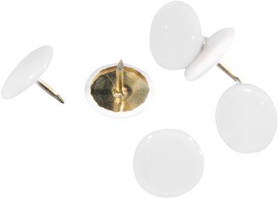 Punaises, kunststof laag, wit, 100 stuks