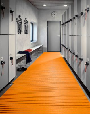 PVC-Badematte, 800 mm breit, orange