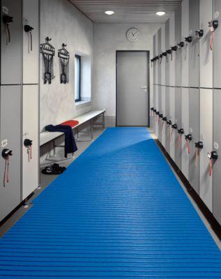 PVC-mat, blauw, 800 mm