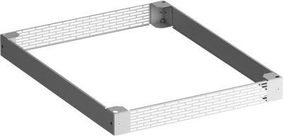 PX basismodule, plaatstaal, gegalvaniseerd, met 4 of 5 voetplaten, D 1000 mm, D 1000 mm