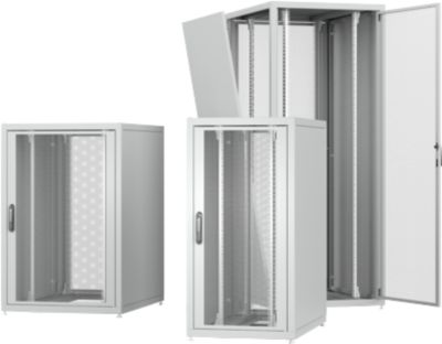 PX Serverkast, plaatstaal, poedergecoat/gegalvaniseerd, B 600 x D 1000 x H 2000 mm.